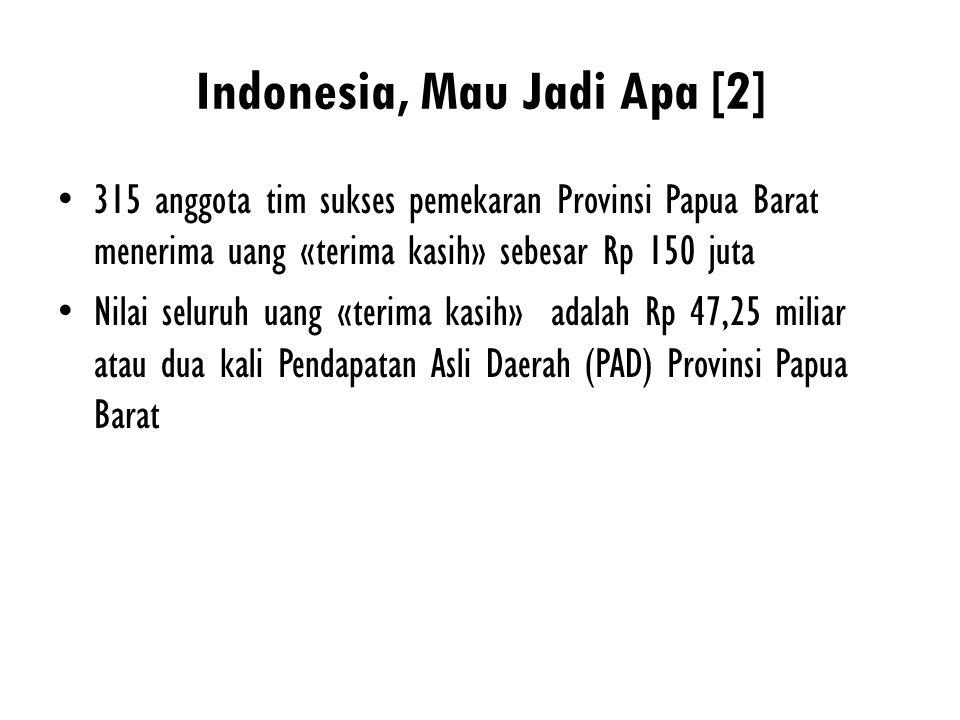 Indonesia, Mau Jadi Apa [2]